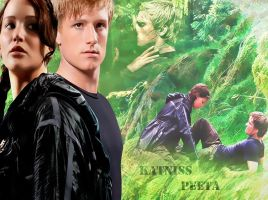 Peeta and Katniss by YaShA94