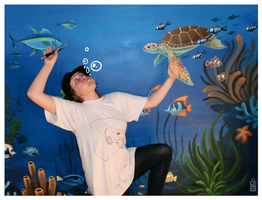 Mural underwater painting by griffsnuff