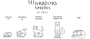 Warriors Med.Cat Sprites free by Tesseri-Shira