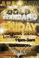Gold Standard Flyer by V1sualPoetry
