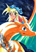Janina and Charizard OLD by JB-Pawstep