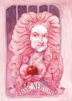 ISAAC NEWTON CARICATURE by StDamos