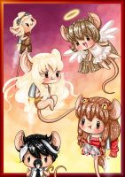 Rats Visiting their Friend in Heaven *^* by SugarcubeCake