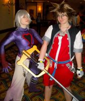 Sora and Riku at Anime LA 2011 by mzGALORE