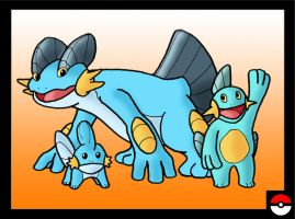 Mudkip Family by ZappaZee
