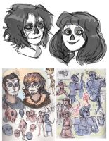 Day of the Dead SKETCHES by MadJesters1