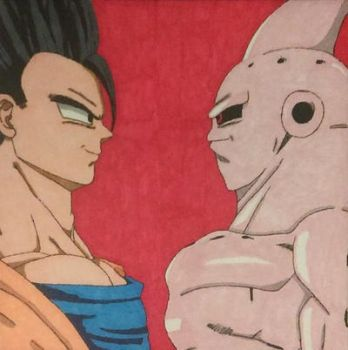 Gohan vs. Buu (Dragon Ball Z) by Senteras90