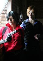 Ada Wong and Leon S. Kennedy by selenevamp
