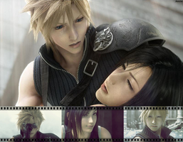 Cloud and Tifa by AuraIan