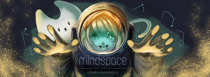 Commission work : A banner for Mind space. by Hmarksorn