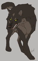 Brown wolf by Roneri
