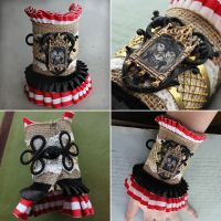 Conjoined Twins Circus Cuff Bracelet by asunder