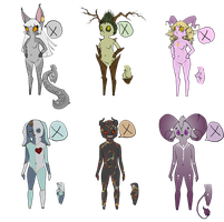 Even More Adoptables by QuiltedPanda