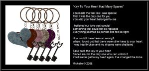 Key To Your Heart Had Spares by VisualPoetress