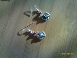 earrings 'bouton de rose' by saliadeesse