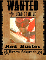 Red Buster Wanted Poster by YorkeMaster