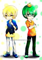 Kise and Midorima by rinrie