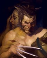 TDP-WOLVERINE TWO SATYRS by leebleeb