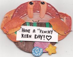 Pinchy Keen Crab Paperpuppet by Dollmancer