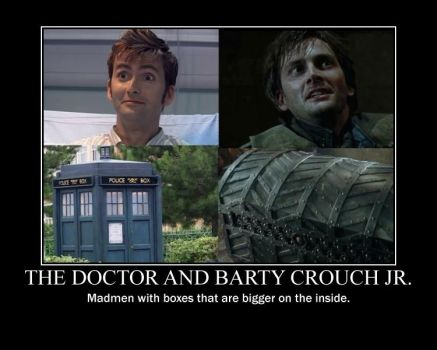 The Doctor and Barty Crouch Jr by snowcloud8