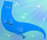 Otter by pSarahdactyls