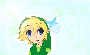 Chibi Green Link by MarlySaysMeow