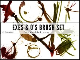 Exes and O's Brush Pack by brushchick