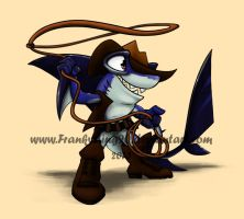 Cowboy Shark by Frankyding90