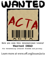 Anti ACTA flyer and poster 3 by IFM-Store