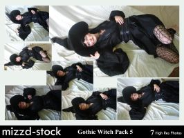 Gothic Witch Pack 5 by mizzd-stock