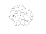 shaymin lineart 2 by michy123