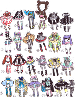 CLOSED-Adoptable outfits by Guppie-Adopts