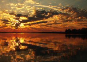 Lac Seul Sunrise by TheAngelsrafel