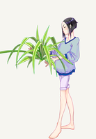 with chlorophytum by Syuna88