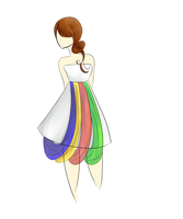 Seychelles Flag inspired dress by SCEC
