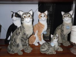 Life sized cat statues by Natalia-Clark