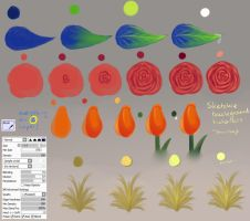 Step By Step - Easy Flowers and Leafes by Saviroosje