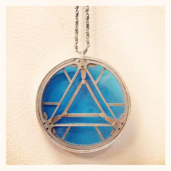 Arc Reactor pendant necklace by gerodere