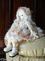 Ivory FlowerFairy II by Dynamene-Dolls