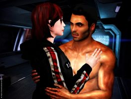 Shepard and Kaidan - to hold - new by Servala