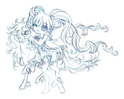 apple and dancer... sketch by sureya