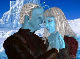 Happier times Talas and Shran by jaguarry3