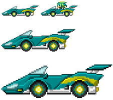 Static SaSASR Car Sprite by LucarioShirona