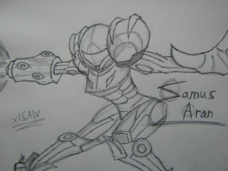 Samus Aran Quick Sketch by xlShinnAsakuralx