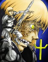 Claymore Clare Colored by DrakeStirLawl