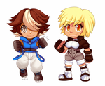 Leo and Kim [Chibi] - Commission by CheloStracks