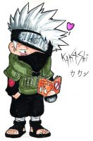 Chibi Kakashi-sensei by shadow-shasuka