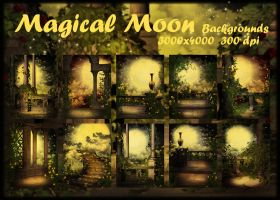 Magical Moon backgrounds by KlaraKay