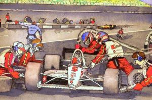 Nigel in the Pits at Indy by deviantmike423