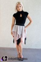 Black Pink White Faerie Skirt by DaisyViktoria